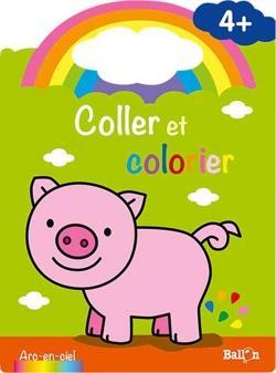 Coller et colorier ; cochon