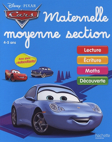 Cars ; Maternelle Moyenne Section ; Cahiers D'Exercices