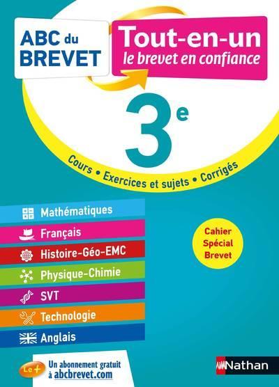 ABC DU BREVET TOUT-EN-UN ; mathématiques, français, histoire-géographie EMC, physique-chimie, SVT, technologie, anglais : 3e (édition 2021)