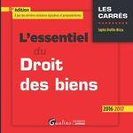 Vente Livre Numérique : L'essentiel du droit des biens - 9e édition 2016-2017  - Sophie Druffin-Bricca