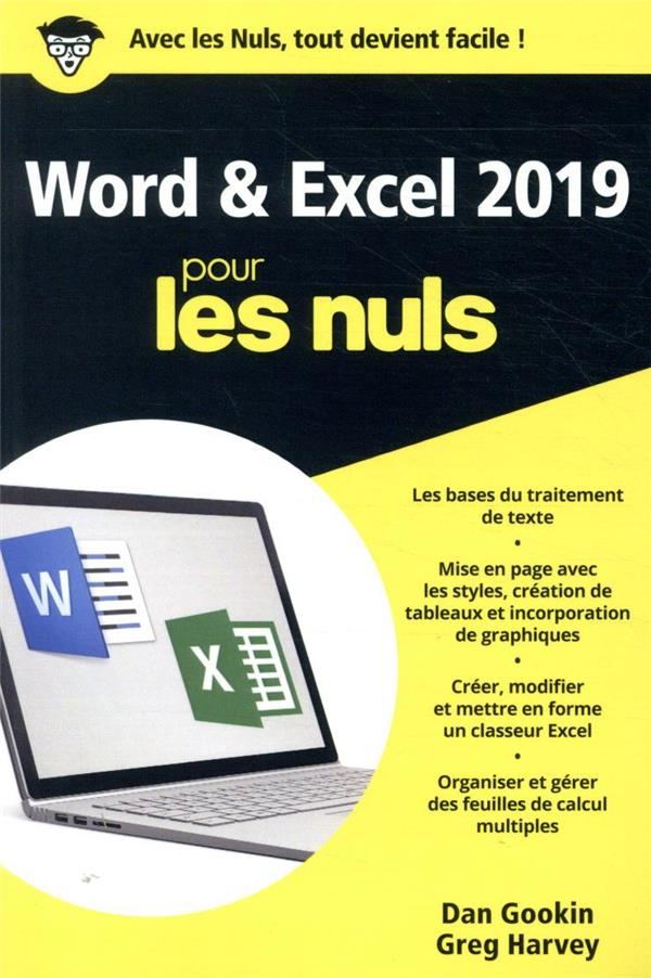 Word et Excel poche pour les nuls (édition 2019)