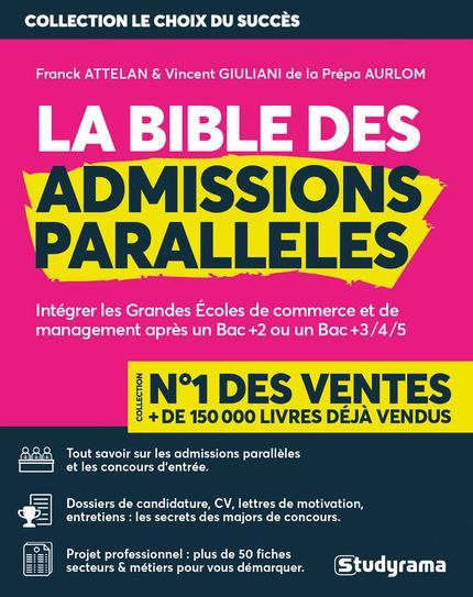 LA BIBLE DES ADMISSIONS PARALLELES (EDITION 20182019)  GIULIANI, VINCENT