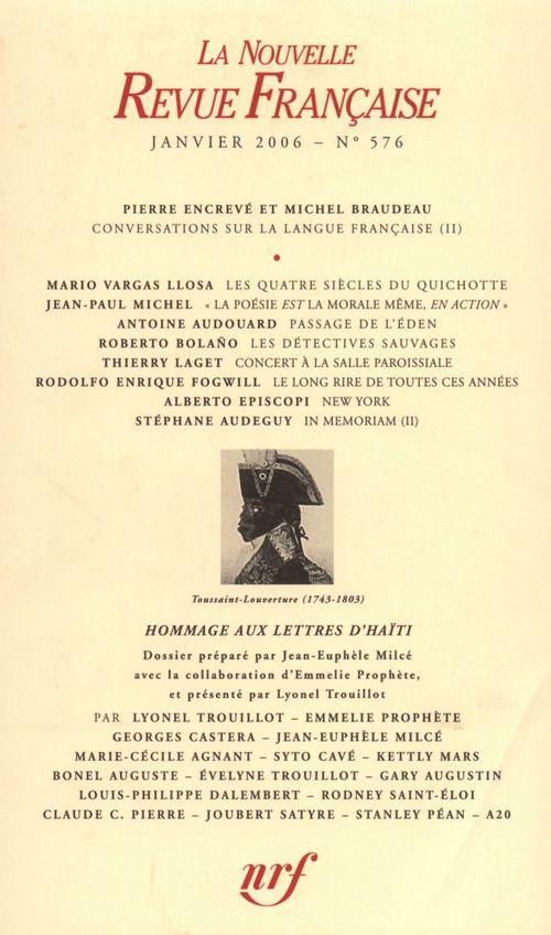 La Nouvelle Revue Française N° 576