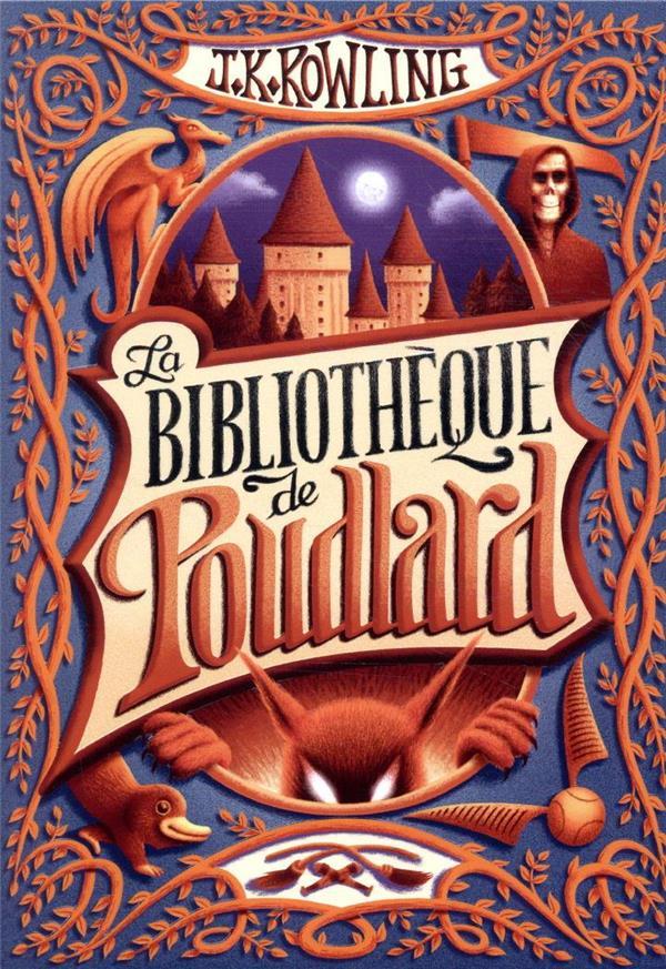 La bibliothèque de Poudlard ; le quidditch à travers les âges, les animaux fantastiques, les contes de Beedle le Barde