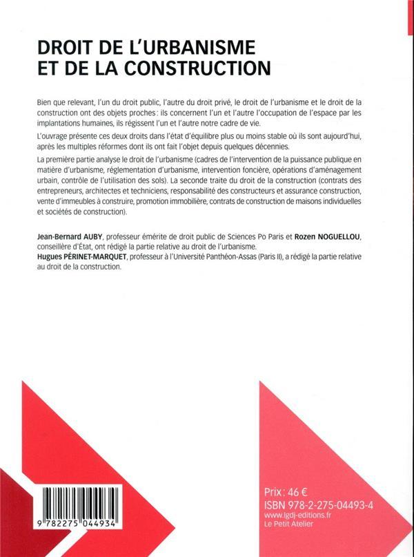 Droit de l'urbanisme et de la construction (12e édition)