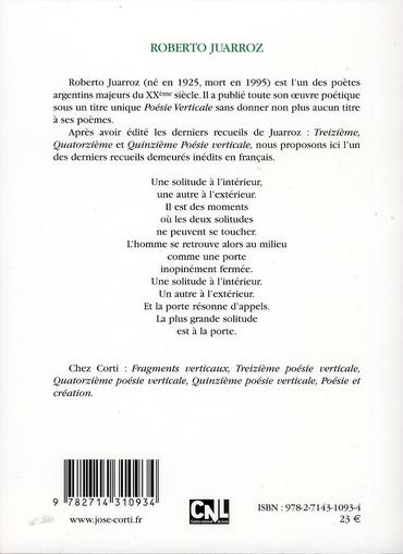 Dixième poésie verticale