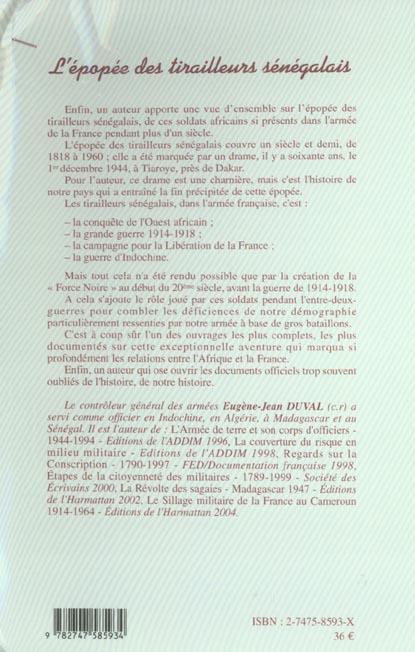 L'epopee des tirailleurs senegalais