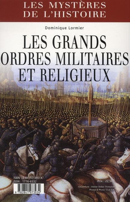 Les grands ordres militaires et religieux