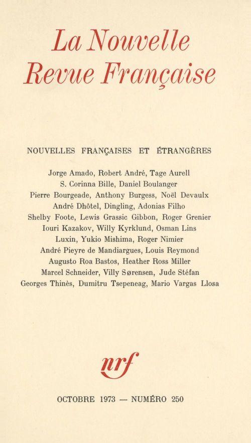 Nouvelles françaises et étrangères N° 250