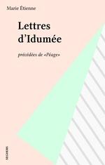 Vente EBooks : Lettres d'Idumée  - Marie Étienne