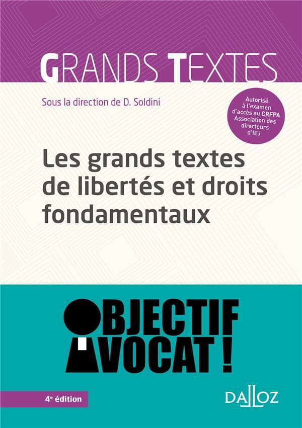 Les grands textes de libertés et droits fondamentaux (4e édition)