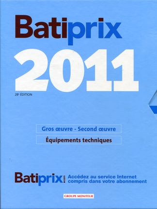Batiprix 2011 ; Coffret 2 Volumes ; Gros Oeuvre, Second Oeuvre ; Equipements Techniques