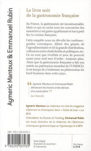 Le livre noir de la gastronomie francaise
