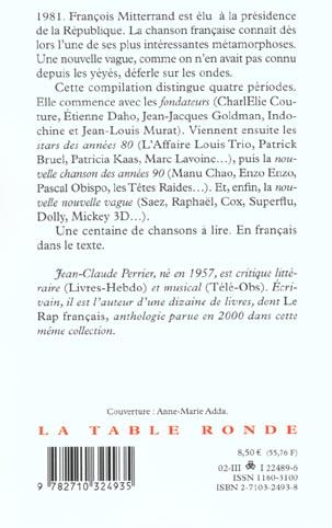nouvelle vague ; anthologie de la jeune chanson française depuis 1981
