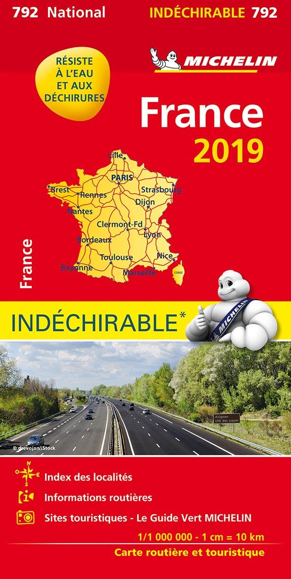 XXX - CARTE NATIONALE 792 FRANCE INDECHIRABLE 2019