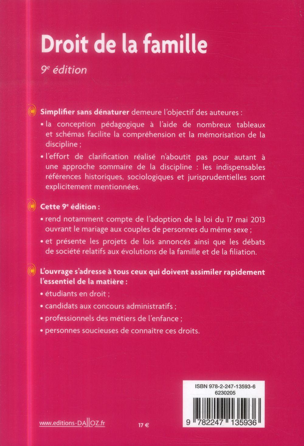 Droit de la famille (9e édition)