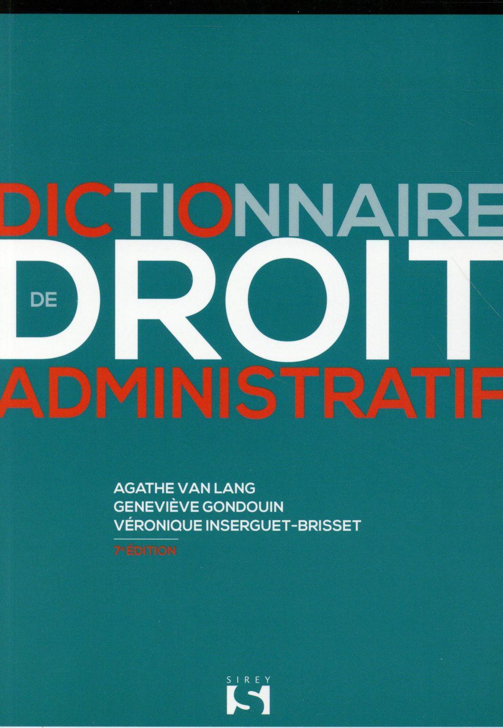 dictionnaire de droit administratif (7e édition)