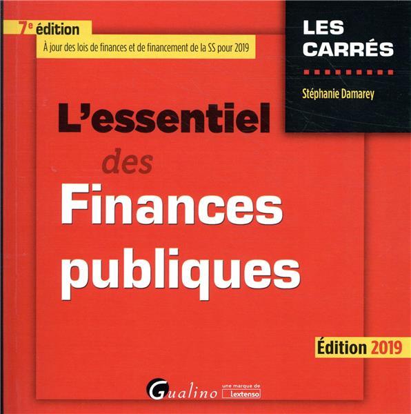L'essentiel des finances publiques (édition 2019)