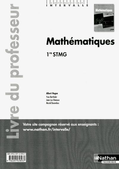 INTERVALLE ; mathématiques ; 1re STMG ; livre du professeur