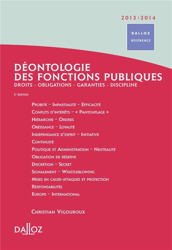 Déontologie des fonctions publiques (édition 2013/2014)