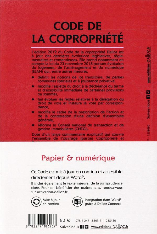 Code de la copropriété, annoté & commenté (édition 2019) (28e édition)