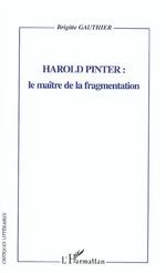 Vente Livre Numérique : HAROLD PINTER  - Brigitte Gauthier
