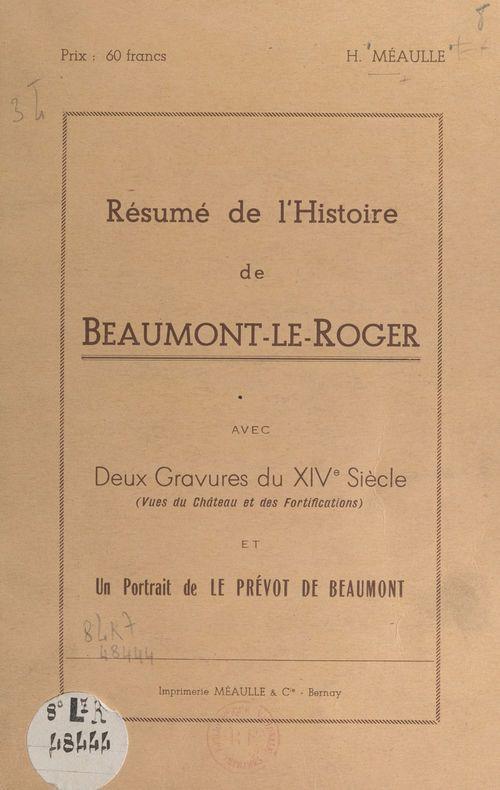 Résumé de l'histoire de Beaumont-le-Roger