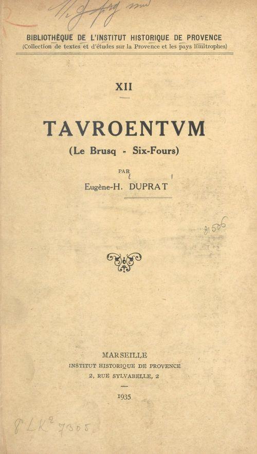 Tauroentum (Le Brusq, Six-Fours)