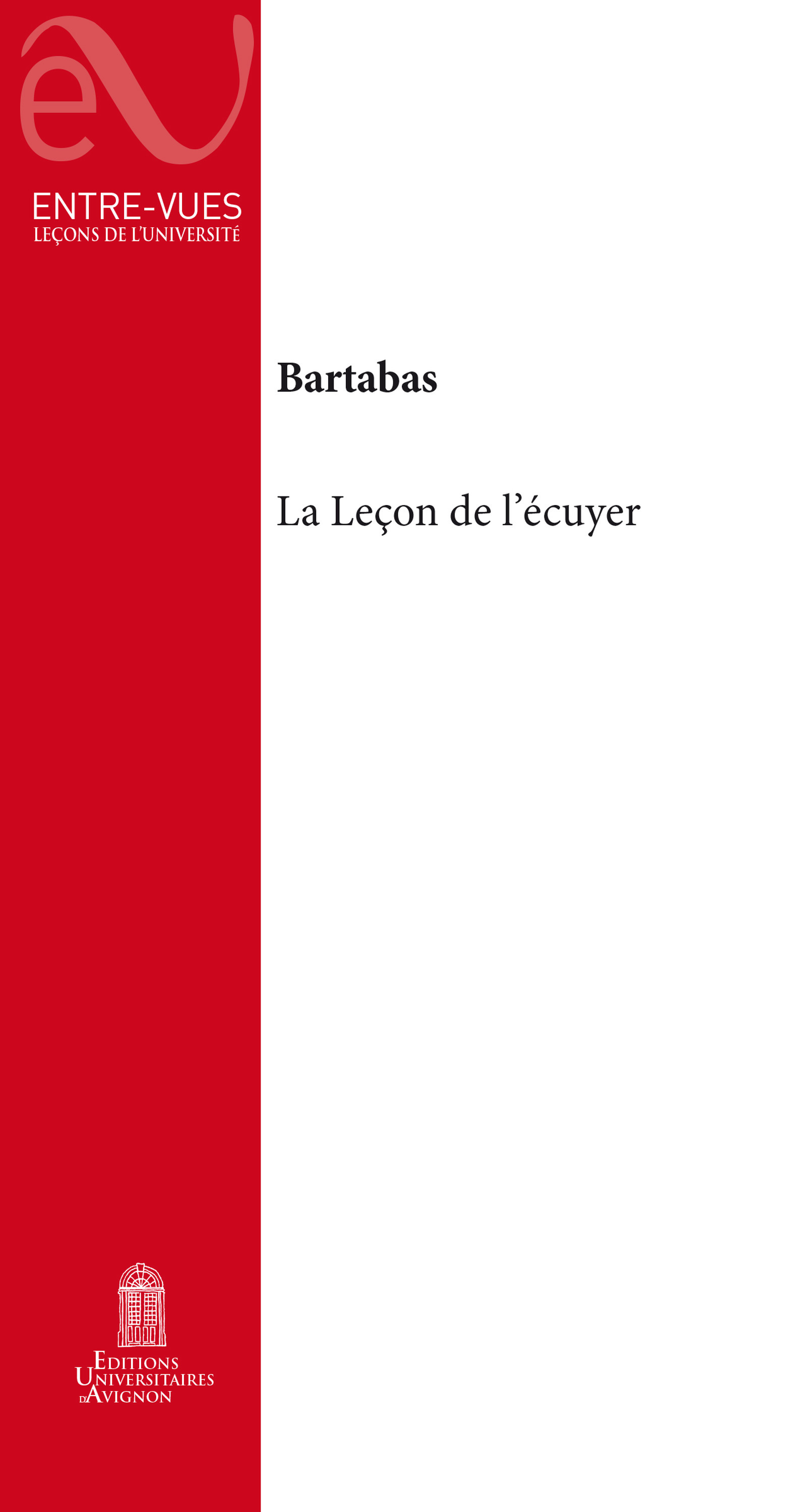 La Lecon De L'Ecuyer