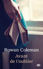 Vente EBooks : Avant de t'oublier  - Rowan Coleman