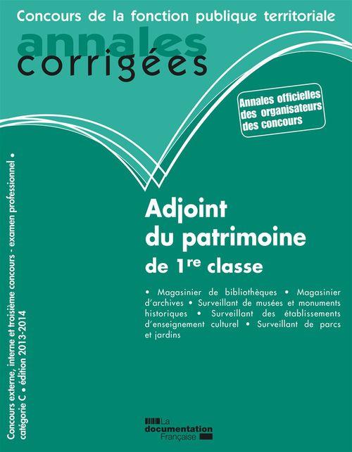 Adjoint du patrimoine de 1re classe (édition 2012)