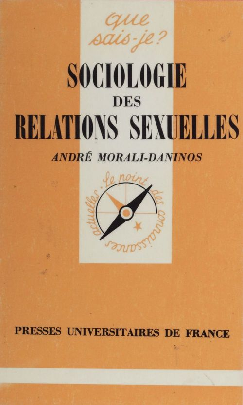 Sociologie des relations sexuelles qsj 1068