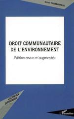 Vente Livre Numérique : Droit communautaire de l'environnement  - Simon Charbonneau