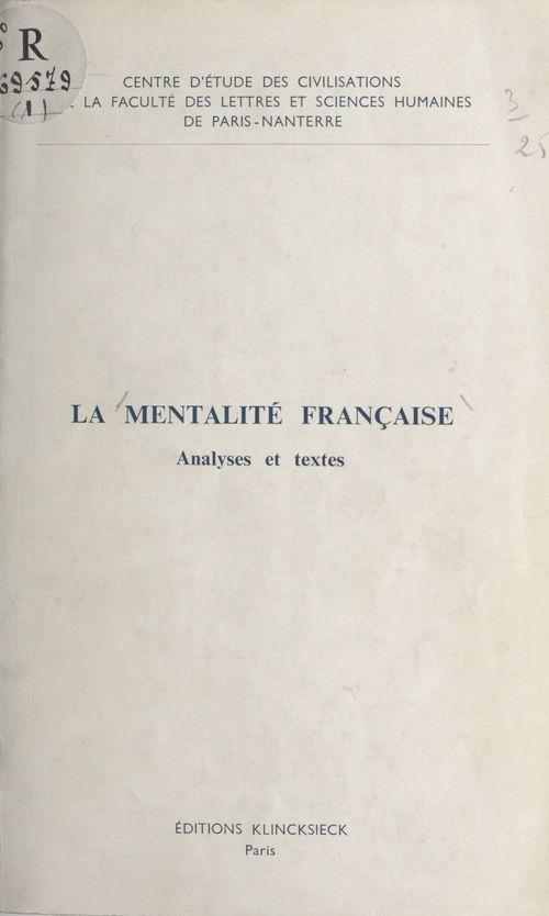 La mentalité française