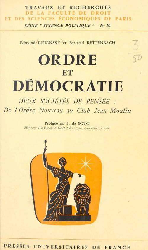 Ordre et démocratie  - Edmond Lipiansky  - Bernard Rettenbach