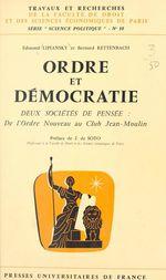 Ordre et démocratie