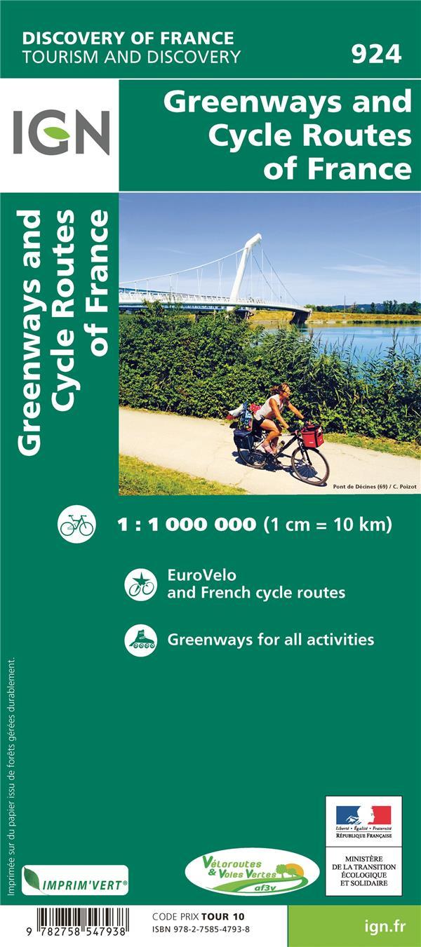 924 ; voies vertes et véloroutes de France