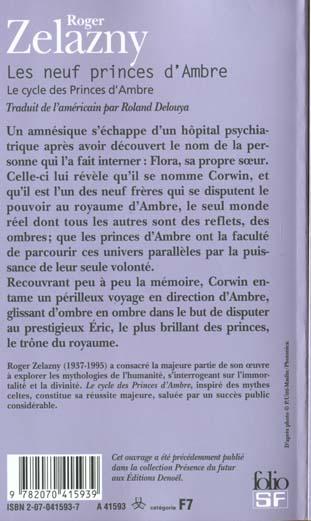 Le cycle des princes d'Ambre t.1; les neuf princes d'ambre