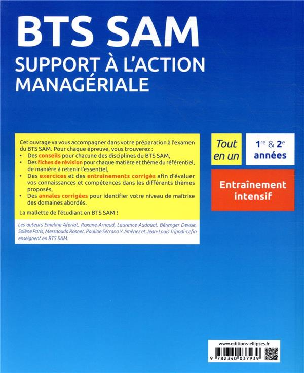 Bts sam - support a l'action manageriale