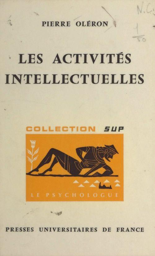 Les activités intellectuelles