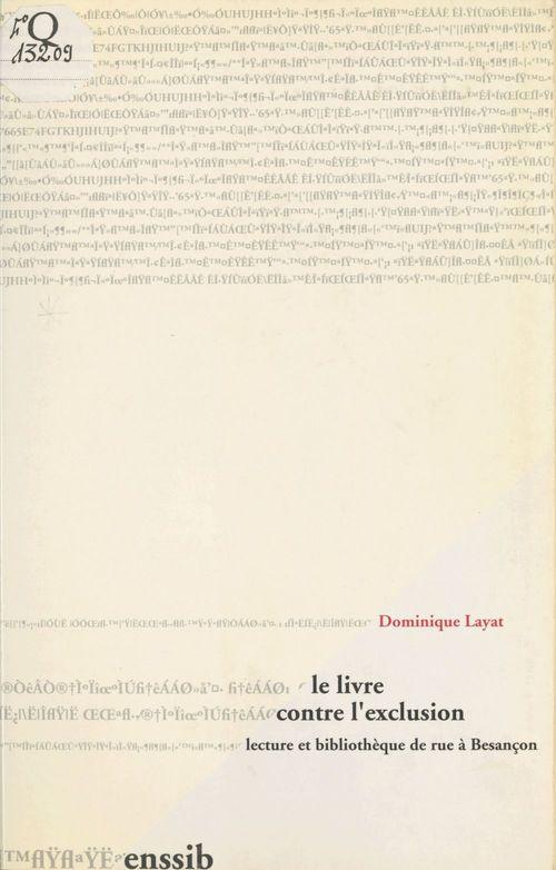 Le Livre contre l'exclusion : Lecture et bibliothèque de rue à Besançon