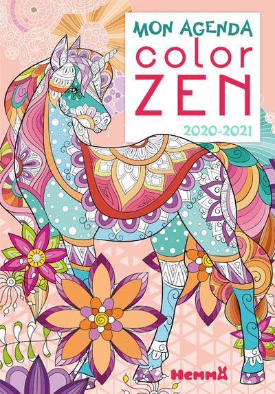 COLOR ZEN ; mon agenda (édition 2020/2021)