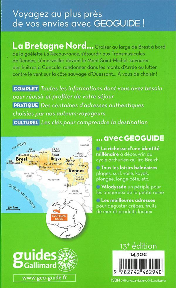 GEOguide ; Bretagne nord ; Rennes, Brest, Saint-Malo