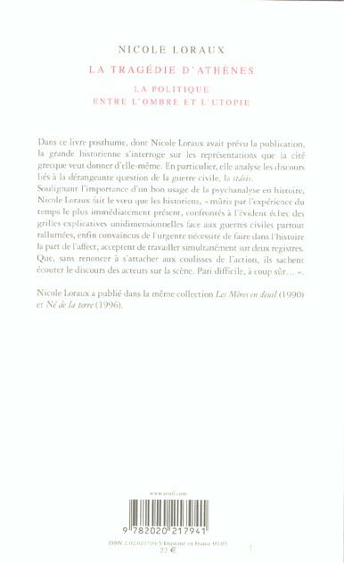 La tragédie d'Athènes ; la politique entre l'ombre et l'utopie