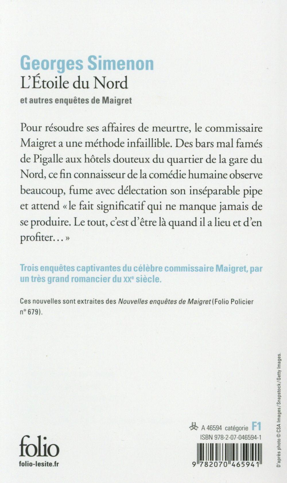 l'étoile du nord et autres enquêtes de Maigret