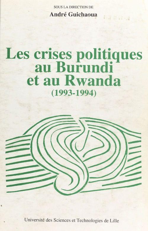 Les crises politiques au Burundi et au Rwanda (1993-1994)