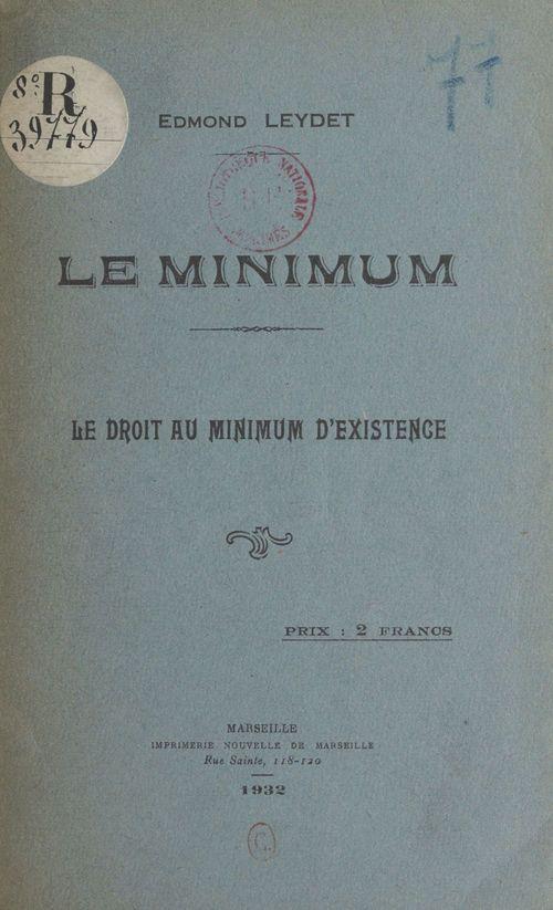 Le minimum