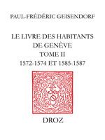 Le livre des habitants de Genève