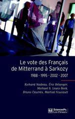 Vente Livre Numérique : Le vote des français de Mitterrand à Sarkozy  - Éric Bélanger - Bruno Cautrès