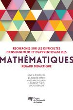 Vente EBooks : Recherches sur les difficultés d'enseignement et d'apprentissage des mathématiques  - Laurent THEIS - Lucie DeBlois - Hassane Squalli - Claudine Mary